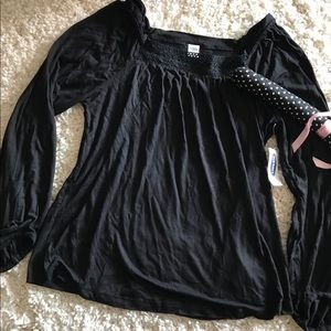🦋 OLD NAVY BLACK LACE TUNIC TOP SIZE M